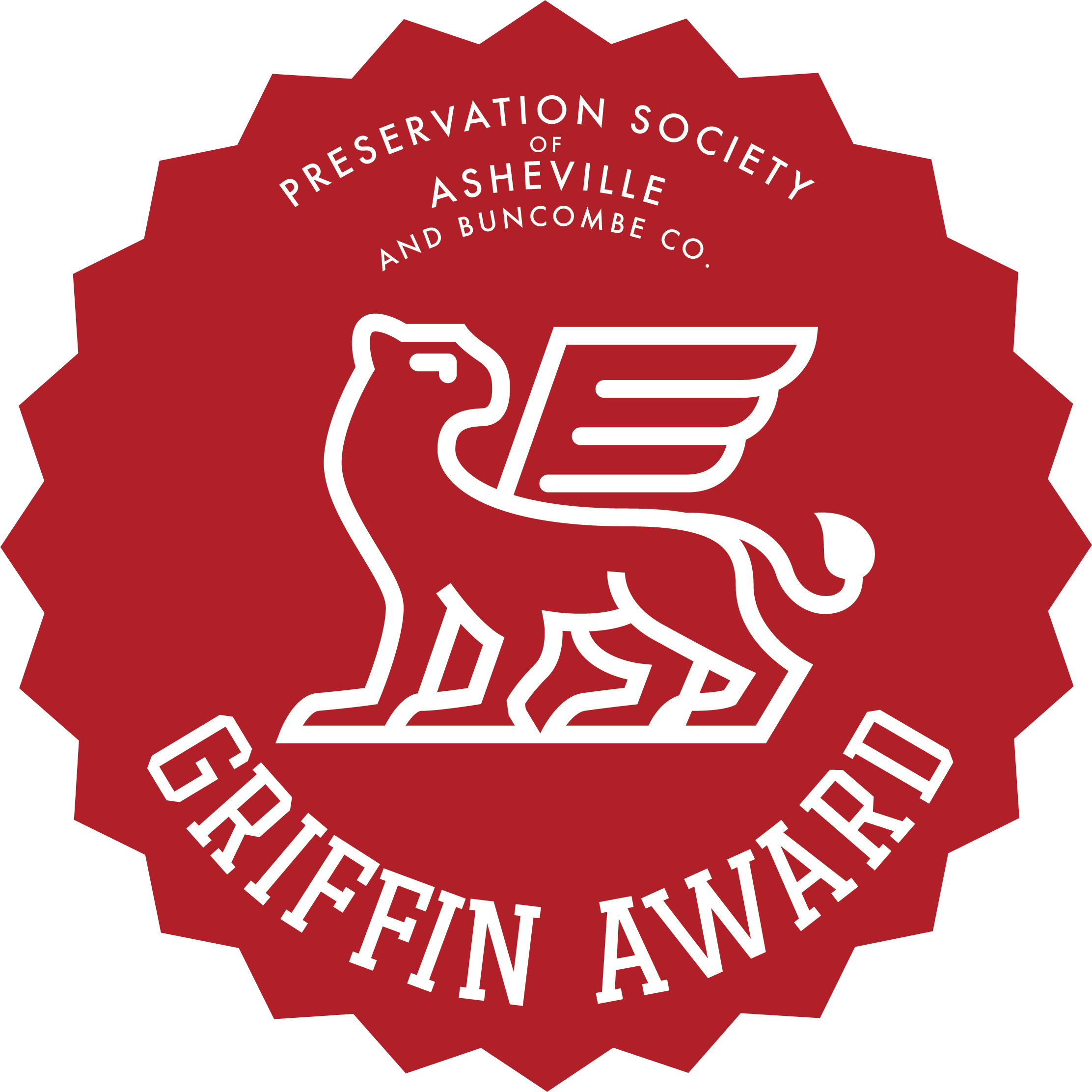 Griffin Award winner from the Preservation Society of Asheville and Buncombe County